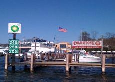 Marina fuel dock