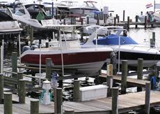 Edgewater boat lift slip